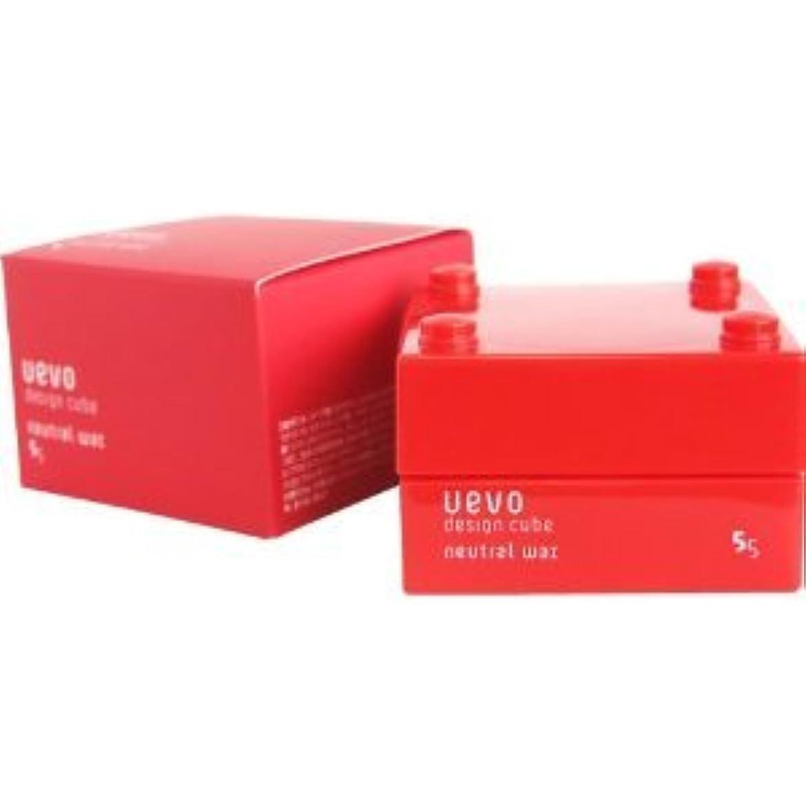 小人浪費発揮する【X2個セット】 デミ ウェーボ デザインキューブ ニュートラルワックス 30g neutral wax DEMI uevo design cube