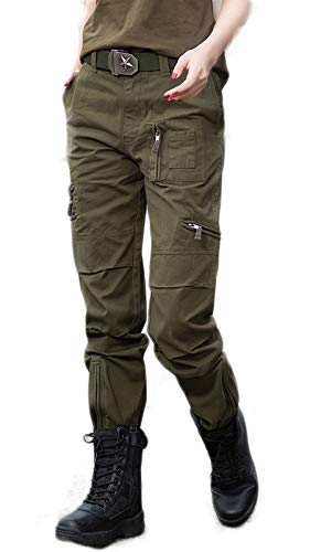 DMDMJY Femmes Loose Fit Pantalon Cargo Militaire Casual Tactique Durable Extérieur Treillis,a,27
