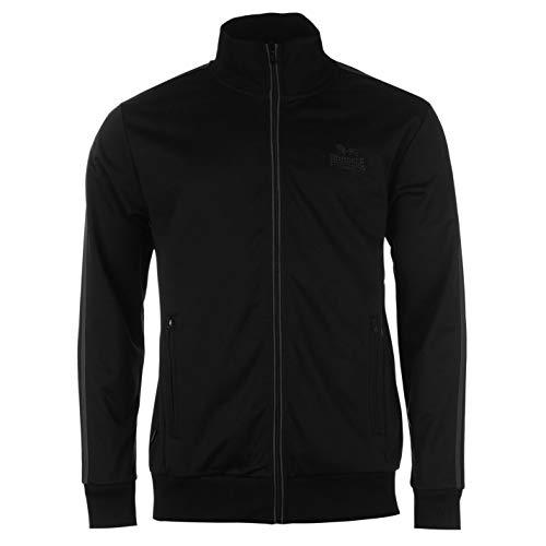 Lonsdale Herren Trainingsjacke Jacke Sportjacke Sport Freizeit Reissverschluss Black/White Large