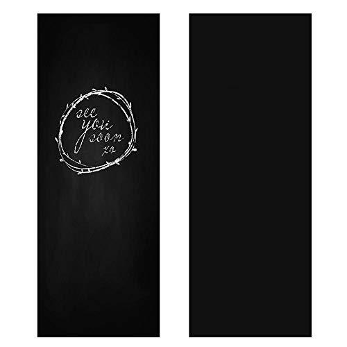 Yaheetech Lavagna Adesiva Cancellabile per Muro Parete Mobili da Cucina 60 x 300 cm Nera Regalo per Bambino