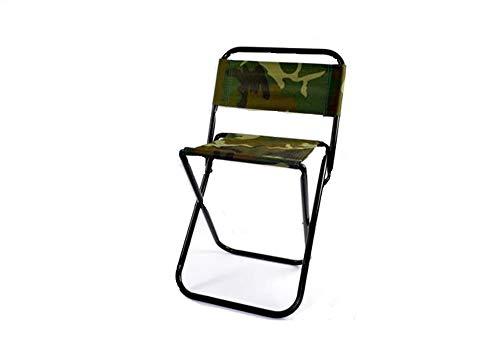 Sedia portatile Sgabello pieghevole per pesca campeggio fantasia mimetica sedia militare max 85 kg F38
