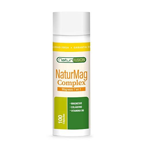 Magnesio Puro + Colágeno + Vitamina B6 | Elimina los Dolores Musculares y La Fatiga | 5 Sales de Magnesio Puras y Bioasimiladas | Optimiza tu Sistema Nervioso | Recupera tu Vitalidad | 100 Cápsulas.