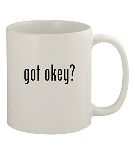 got okey? - 11oz Ceramic White Coffee Mug, White