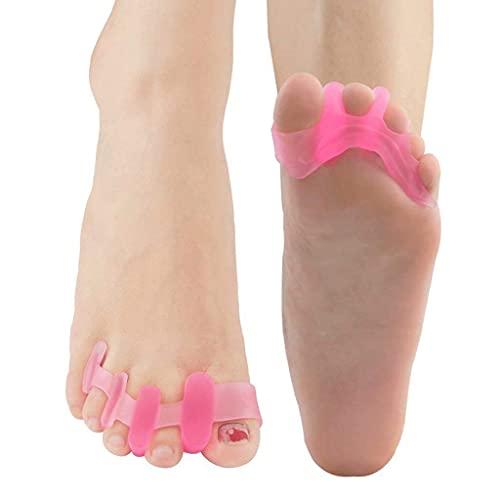 YLJJ Separadores de Dedos de Gel, Corrector de juanetes, espaciadores de Dedos Suaves, alisadores, Alivio del Dolor, para pedicura y Yoga para Correr (1 par)