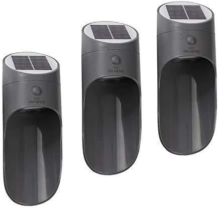 YUKM Solarlichter Outdoor Solar LED Outdoor Wandleuchten 3Pack Bewegungssensor Sicherheitslicht, wasserdichte Solarlichter für Fronttür Hinterhof Garage Veranda