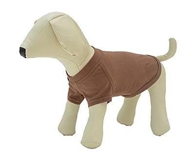 lovelonglong 2019 Pet Clothing Dog Costumes Basic Blank T-Shirt Tee Shirts for Medium Large Dogs Coffee XXL+