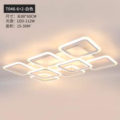 Lámpara colgante led moderna, aplicación de teléfono inteligente con lámpara acrílica de control remoto, utilizada para sala de estar, dormitorio, estudio, lámpara colgante para el hogar, 6 y 2, regul