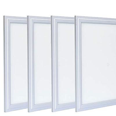 "Zoopod 12W 12"" x 12"" LED Flat Panel Light, 6000K Cool White, Ultra Thin Edge-lit Square LED Panel Ceiling Light (1/4 Pack)"