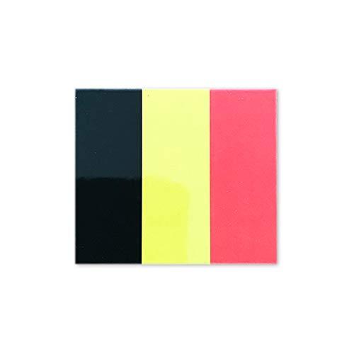 ベルギー 国旗 ステッカー (屋外 対候 ・ 防水 シール ) (S 約68mmx78mm)