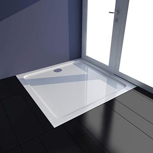 FAMIROSA Plato de Ducha ABS Blanco 80x80 cm