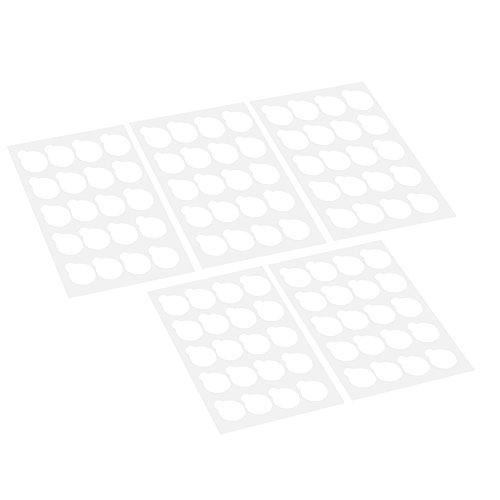 Benkeg Patch Extension de Cils - 100Pcs Disposable Eyelash Glue Holder Pallet Eyelash Extension Glue Pads Stand On Eyelash Glue Patches Autocollant Small Size 2.5Cm