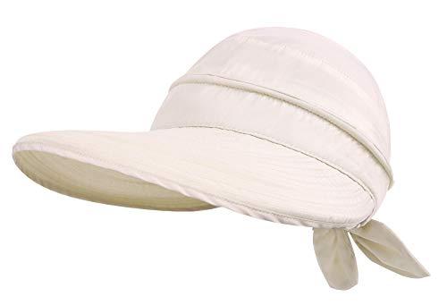 Simplicity Womens Hats UPF 50+ UV Womens Sun Hats Sun Visor Hat Beige