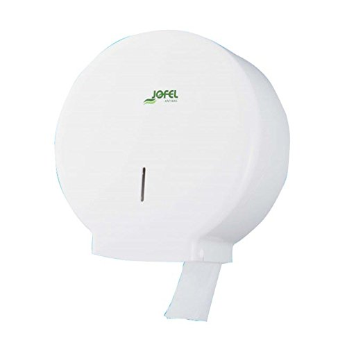 Jofel AE51700 Portarrollos Azur Mediano, 300 mts, ABS Blanco Antibacteriano