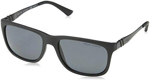 Polo Ralph Lauren Herren PH4088 Sonnenbrille, Schwarz (Matte Black 528481), One size (Herstellergröße: 55)