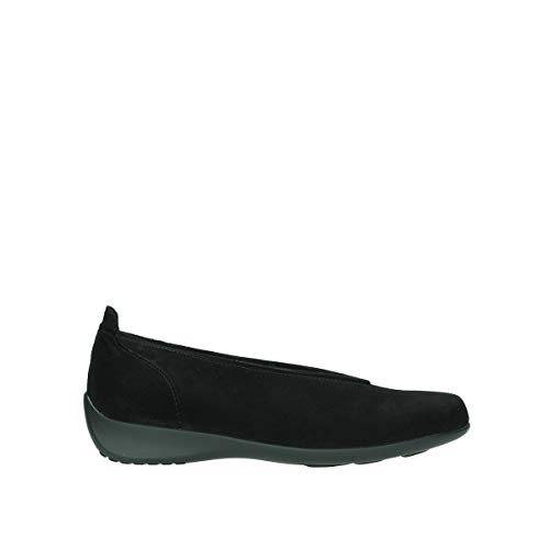 Wolky Comfort Slippers Ballet - 40000 schwarz Veloursleder - 36