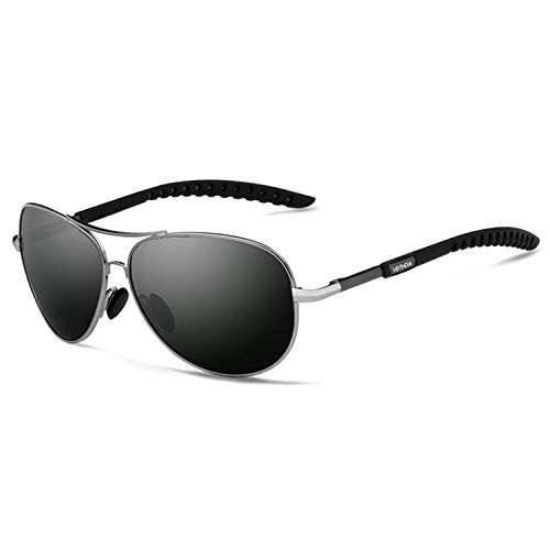 VEITHDIA Gafas de sol para hombre, polarizadas, gafas de aviador, gafas de sol polarizadas, unisex, protección UV400, 3088