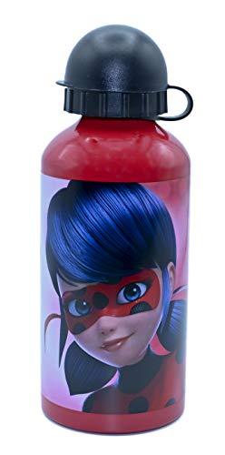 ML Botella de Agua Acero Inoxidable para niños y niñas, Lady Bug cantimplora térmica a Prueba de Fugas sin BPA para Levar a la Escuela y Deportes el Termo/ 500ml (Rojo)