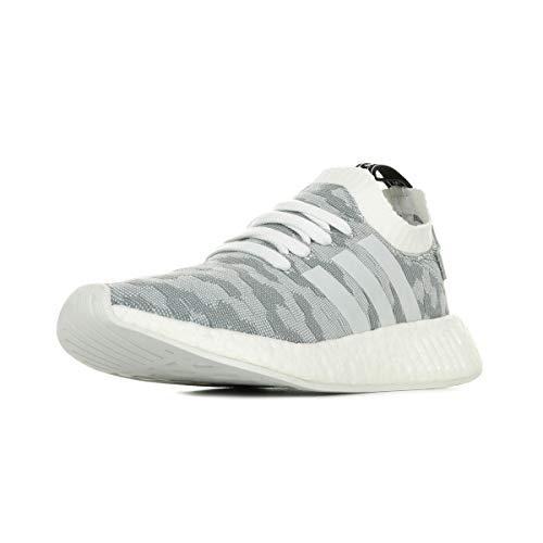 adidas Damen NMD_R2 Primeknit Sneaker, Weiß