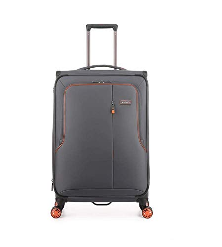Antler Clarendon Expandable Medium Grey Soft Suitcase