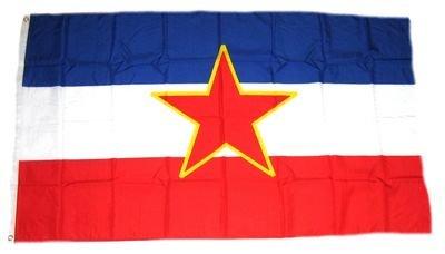 Fahne / Flagge Jugoslawien Stern 90 x 150 cm Flaggen