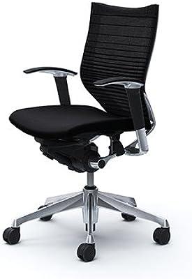 オカムラ デスクチェア オフィスチェア バロン ローバック 可動肘 座クッション ブラック CP83BR-FGR1