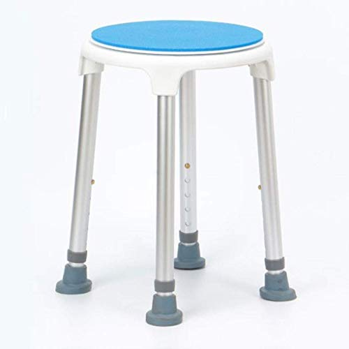 NBVCX Furniture Decoration Round Shower Chair Height Adjustable Shower Stool Rotating Bath Chair with Swivel Seat for Elderly Pregnant Woman Disabled