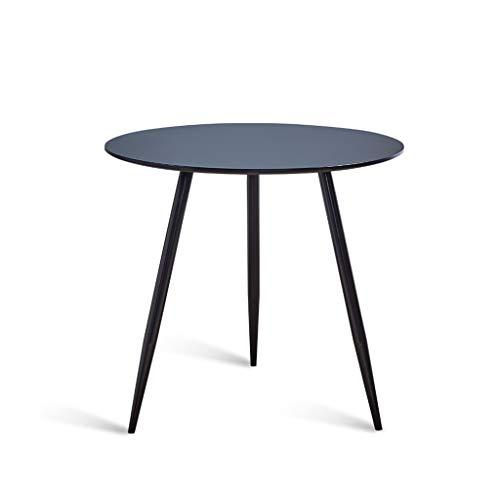 ZIJUAN Table Basse Créative Bar Salon Salle À Manger Canapé-lit Rangement Table De Rangement Plusieurs Coins (Couleur : Black -Round)