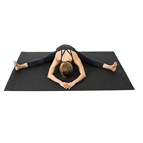 SquareFit - Grand Tapis de Yoga Haut de Gamme Confortable - 122x183cm épaisseur 8mm - Tapis de Sol XXL Gym, Yoga, Pilates, Stretching
