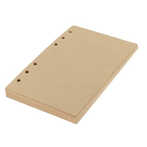 80 vellen notitiepapier, kraftpapier, A6, navulinleg vervanging voor notitieboeken, organizer, afsprakenplanner…