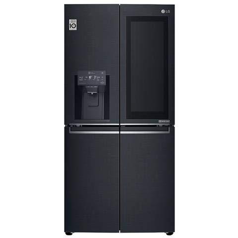 LG GMX844MCKV Multi Door mit Wasser- und Eisspender - No Frost - Multi Airflow System - 423 Liter, Schwarz - A+