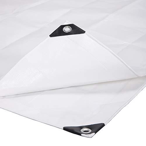 Laneetal Lona Impermeable de Protección Exterior 2x3m Resistente al Agua y a los Rayos UV 280g/m² Blanco