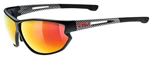 Uvex Erwachsene Sportstyle 810 Sportbrille, Black Mat Carbon, One Size