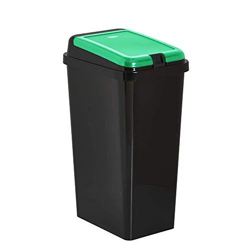 Home In Style 45 L Touch Top Bin/Waste & Recycling Bins/Kitchen Dustbin 1 YEAR LID WARRANTY (Green, 45)