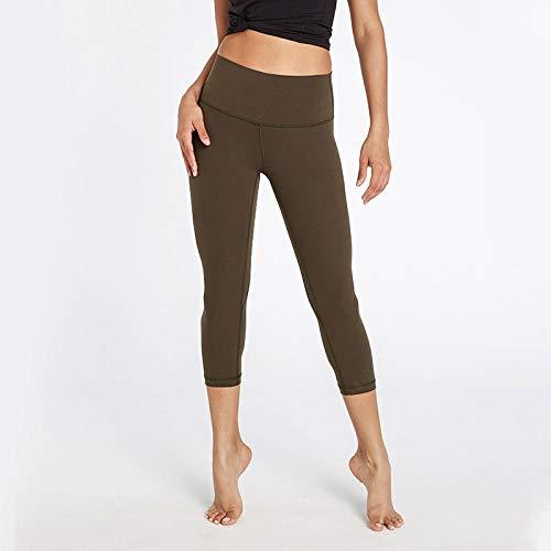 Promworld Leggings de Yoga Fruncidos,Pantalón Corto Cepillado de Doble Cara Desnudo, Caderas de Cintura Alta, Traje de Yoga Fitness-Graphite Grey_S,Talle Alto Sin Costura Leggins para