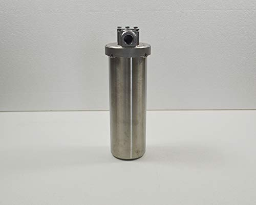 INTBUYING Heavy Duty Water Filter Housing Whole House Water Purification of 304 Stainless Steel -10 inch Filter 1/2 inch NPT