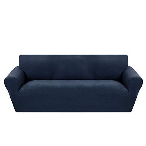 KTUCN Fundas de sofá, Modernas Fundas de sofá de Jacquard para Sala de Estar, sillón, Fundas de sofá seccionales, sofá elástico elástico, Envoltura Ajustada, Azul Marino, A-B 235-300cm