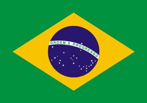 Etaia 5,4x8,4 cm - Auto Aufkleber Fahne/Flagge von Brasilien Brasil Brazil Länder Sticker Motorrad Handy Laptop