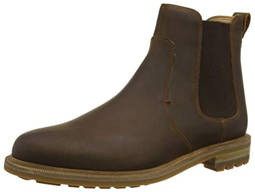 Clarks Herren Foxwell Top Chelsea Boots, Braun (Beeswax Leather Beeswax Leather), 46 EU