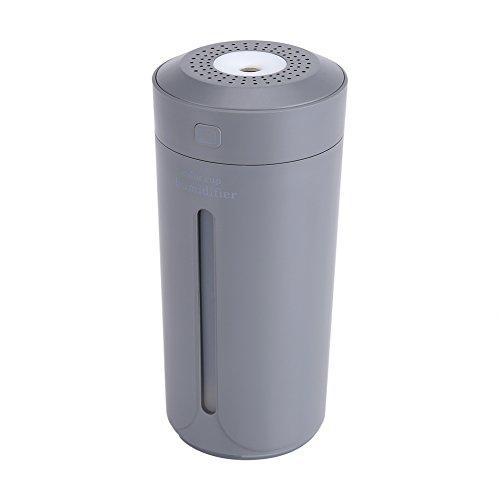 Luchtbevochtiger - LED USB Air Mist Verstuiver Luchtbevochtiger Purifier voor Slaapkamer, Thuis en Kantoor, Baby Luchtbevochtiger (Grijs)