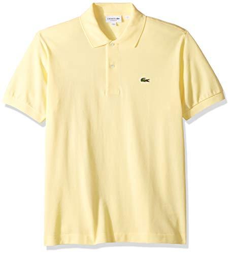 Lacoste Men's Legacy Short Sleeve L.12.12 Pique Polo Shirt, Napolitan Yellow, XL