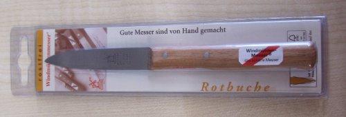 Herder Windmühlen Gemüsemesser Mittelspitz, rostfrei Rotbuche