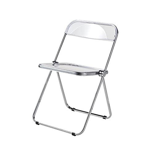 Folding chair Transparenter Klappstuhl,Acryl-Klappstuhl,Konferenzstuhl,B&B Fotografie Dekorationsstuhl (Color : Transparent)