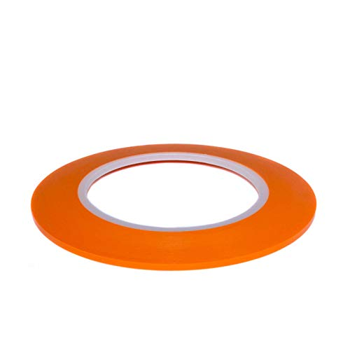 DonDo Fineline Konturenband Zierlinienband lackieren Airbrush Masking Tape Orange 3mm x 55m