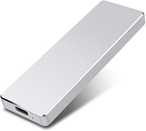 External Hard Drive Portable 2TB Hard Drive External USB 3.0 Slim Hard Drive for Mac,PC and Laptop-2TB,Silver