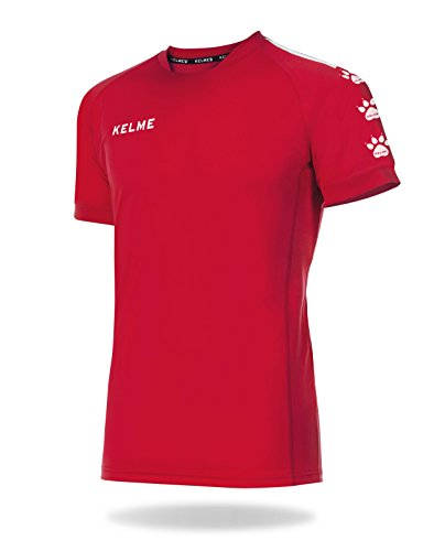 KELME Lince Camiseta Fútbol, Niños, Rojo/Blanco, XS