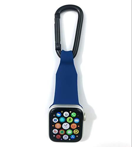 inurseya Carabiner Watch Fob Compatible with Apple Watch 1-6 (38mm-44mm) (Blue)