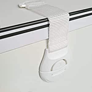 [10 Stück] Kindersicherung Schranksicherung,Canwn Weichem Band Schubladensicherung Türsicherung Kleinkinder Sicherungen für Tür Schränke Kühlschrank und Schubladen mit Starker Kleber ohne Bohren,weiß