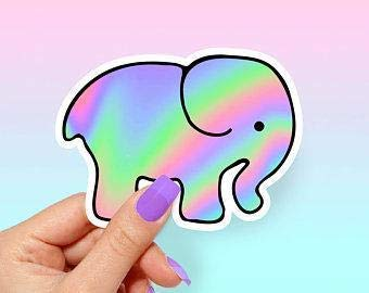 Elephant Trippy Vinyl Sticker Popular popular - for and Laptops Reservation Bottles Water C