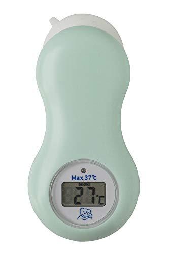 Rotho Babydesign Thermomètre Digital de Salle de Bain et de Chambre avec Ventouse, Piles incluses, À partir de 0 mois, Swedish Green (Vert Menthe), 20448 0266 01 01