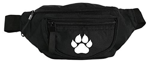 Futtertasche Gürteltasche schwarz für Hunde mit 3 Fächern
